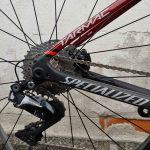 Bici Tarmac Sworks Disc Lato Destro Dettaglio Ruota Posteriore